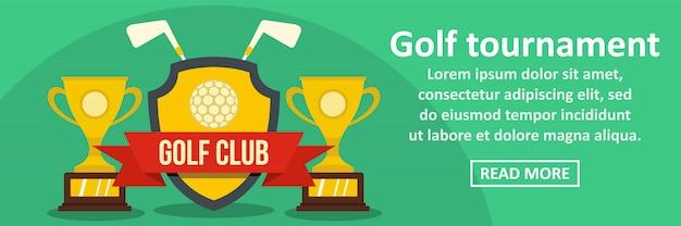 Turniej golfowy transparent szablon poziome koncepcji Premium Wektorów