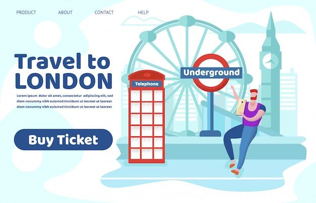 Turystyczne Podróże Po Anglii Strzelaj Do Sight Place Premium Wektorów