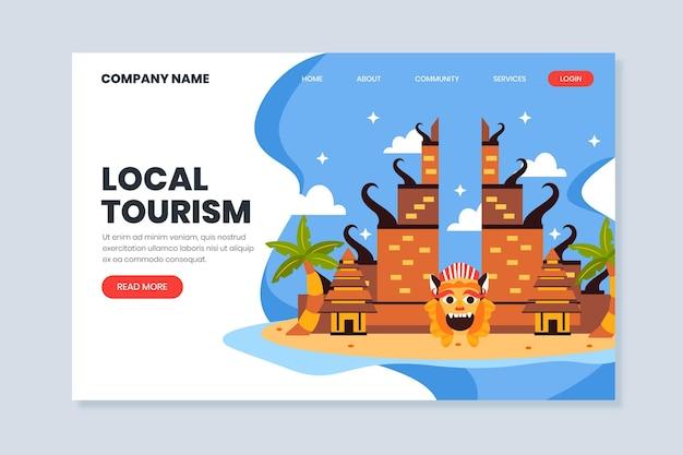 Turystyka Lokalna - Strona Docelowa Darmowych Wektorów