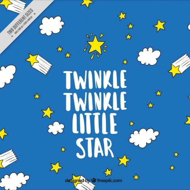 Twinkle Twinkle Little Star, Tło Premium Wektorów
