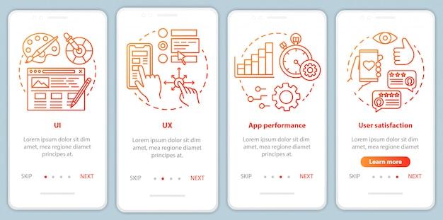 Tworzenie Oprogramowania Na Ekranie Strony Aplikacji Mobilnej Premium Wektorów