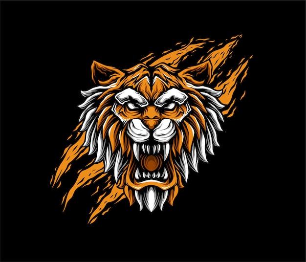 Tygrys Ilustracja Styl Geometryczny Premium Wektorów