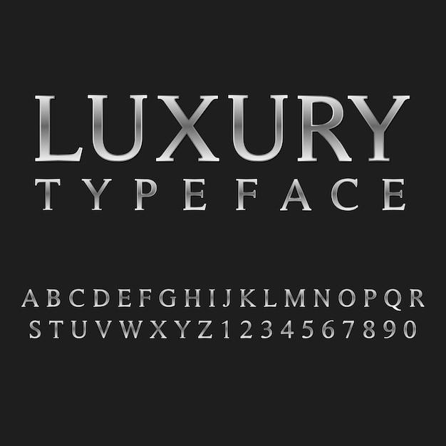 Typografia Luksusowy Styl Alfabetu. Ozdobne Czcionki Nowoczesnej Czcionki. Zestaw Liter I Cyfr. Premium Wektorów