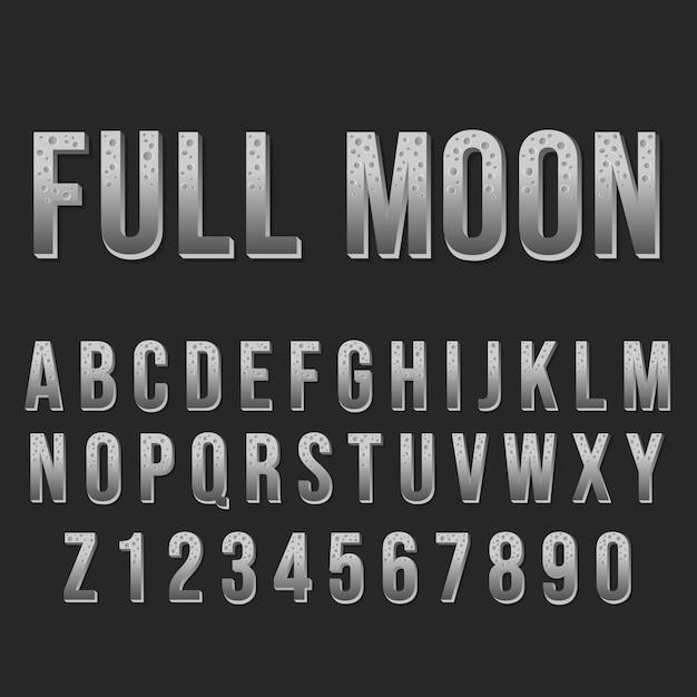 Typografia Pełna Czcionka Alfabetu. Ozdobne Czcionki Nowoczesnej Czcionki. Zestaw Liter I Cyfr. Premium Wektorów