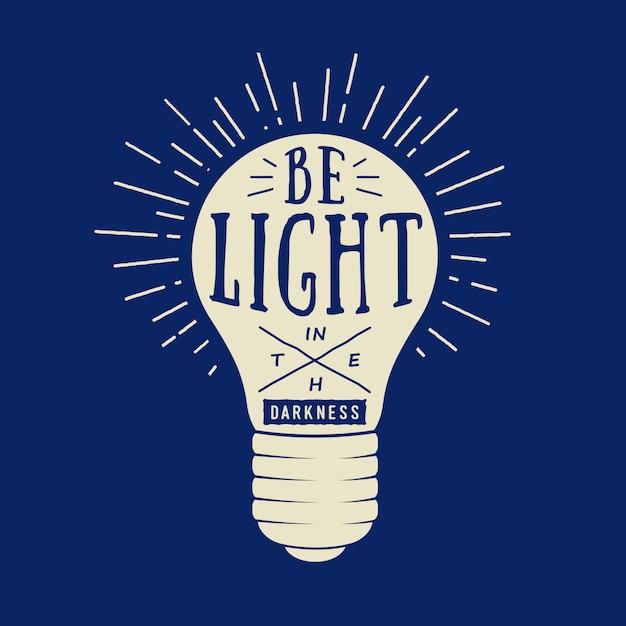 Typografia z lampą Premium Wektorów