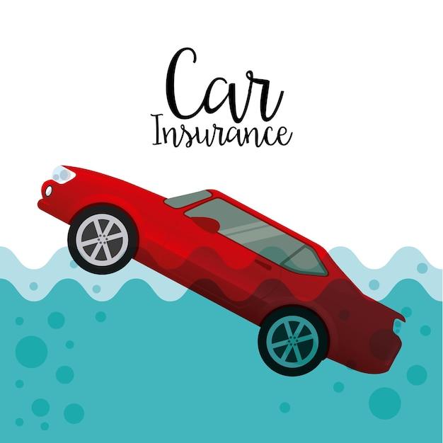 Ubezpieczenie Samochodu Premium Wektorów