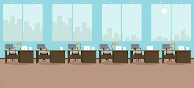 Uczenie się i nauczanie w biurze do pracy korzystanie z ilustracji wektorowych programu do projektowania Premium Wektorów