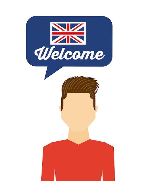 Uczyć się angielskiego Premium Wektorów