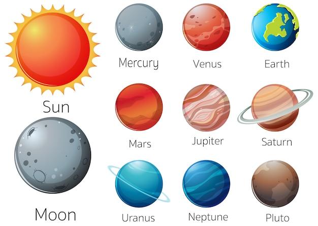 Układ Słoneczny W Galaktyce Darmowych Wektorów