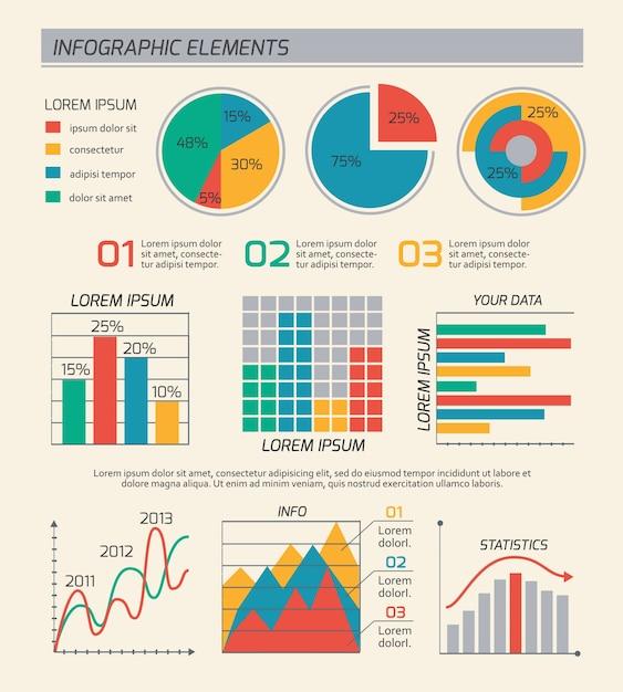 Układ Szablonów Diagramy Biznesowe Darmowych Wektorów