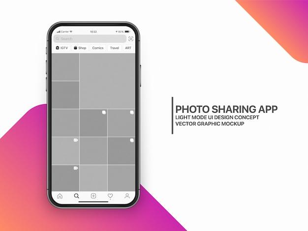Układ Szablonu Makiet Mediów Społecznościowych Ux Premium Wektorów