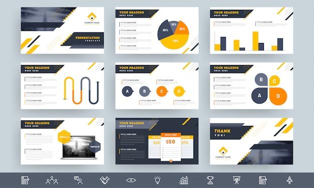 Układ szablonu prezentacji Premium Wektorów