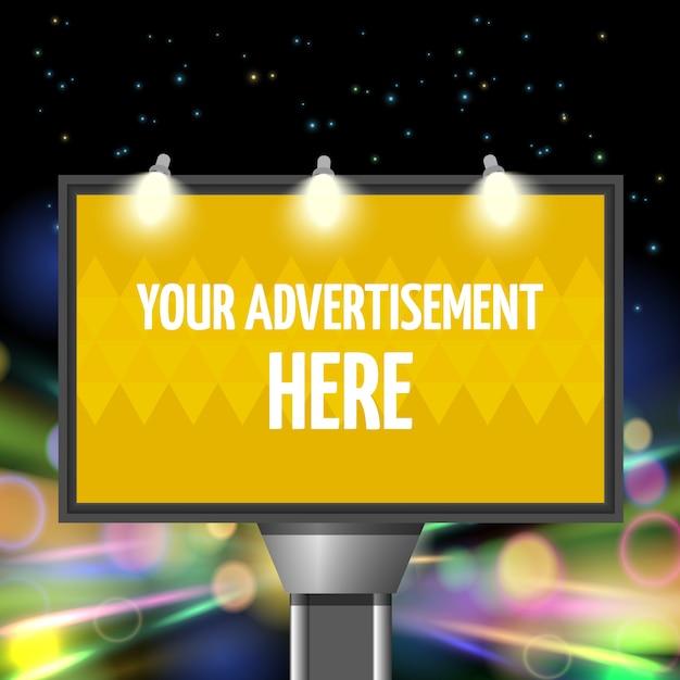 Ulica reklama miasto Darmowych Wektorów