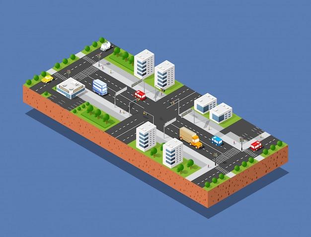 Ulica Transportu Miejskiego Premium Wektorów