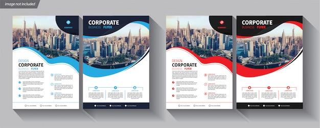 Ulotka Biznes Szablon Dla Broszury Korporacyjnej Premium Wektorów