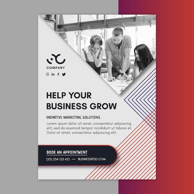 Ulotka Biznesowa Marketingowa Pionowa Darmowych Wektorów