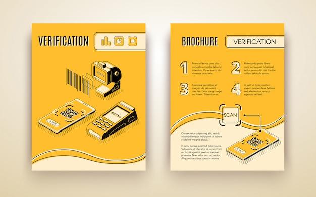 Ulotka cyfrowej usługi biznesowych do weryfikacji Darmowych Wektorów