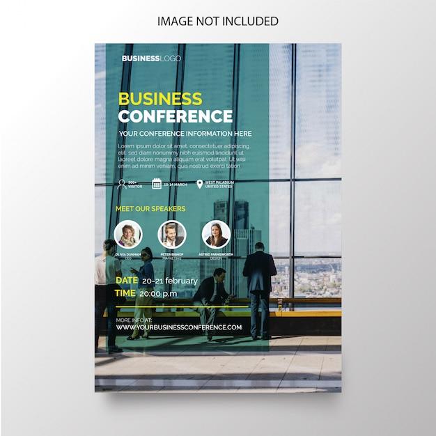 Ulotka konferencyjna dla biznesu o nowoczesnym designie Darmowych Wektorów
