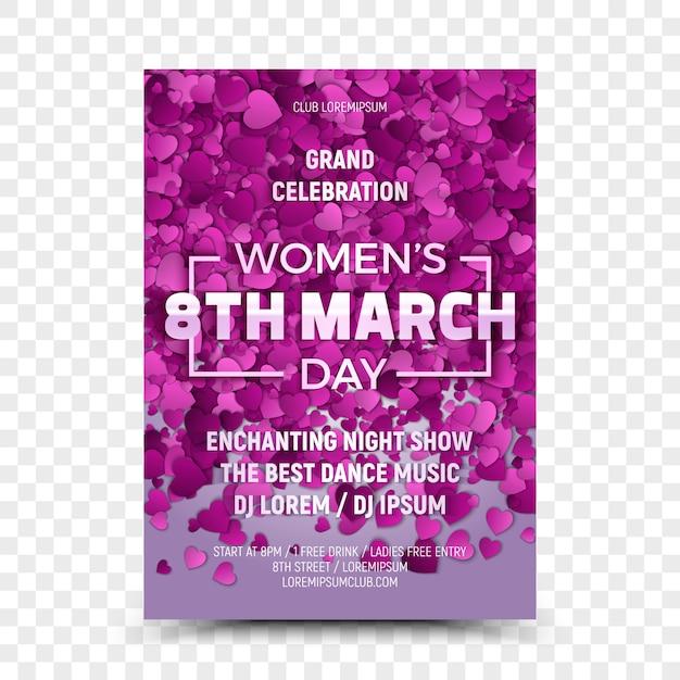 Ulotka Z Okazji Dnia Kobiet 8 Marca Premium Wektorów