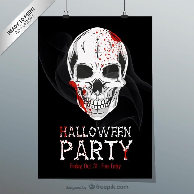 Ulotki Do Druku Halloween Darmowych Wektorów