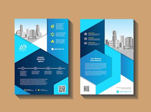 Ulotki Szablon Projektu Profil Firmy Magazyn Plakat Roczny Raport Premium Wektorów