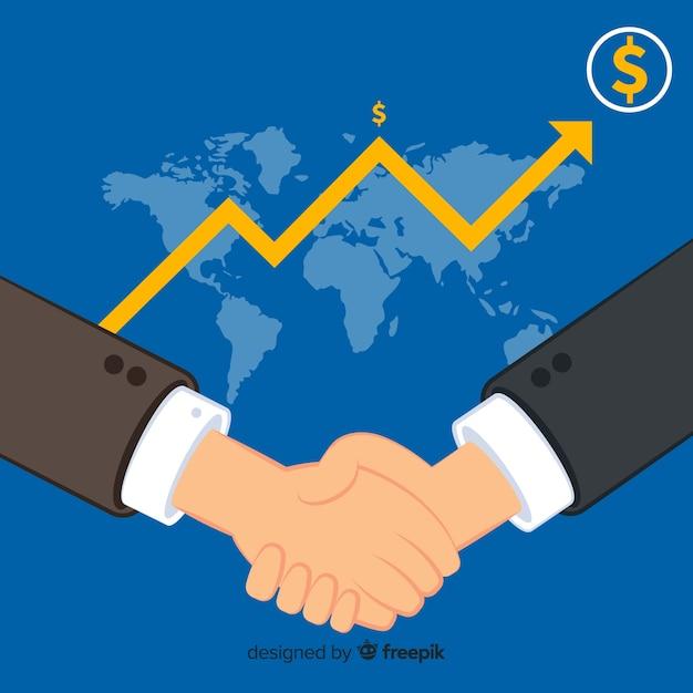 Umowa biznesowa uścisk dłoni Darmowych Wektorów