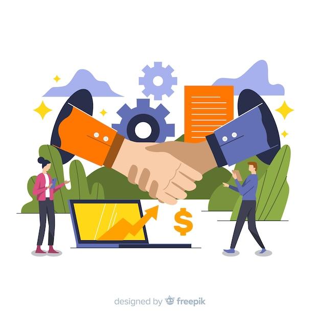 Umowa Biznesowa Darmowych Wektorów