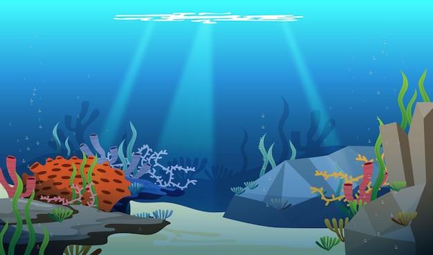 Under The Sea - Tło Do Wideokonferencji Darmowych Wektorów