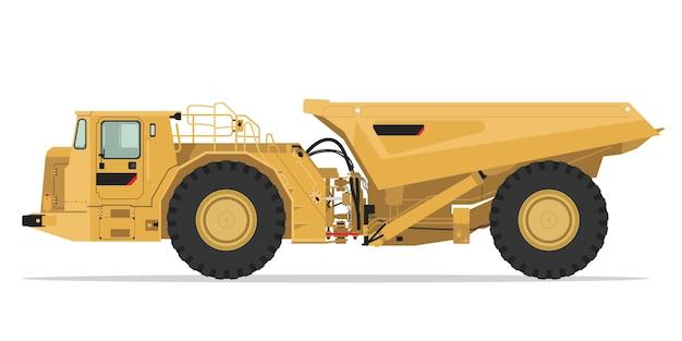 Underground Mining Truck Side View Premium Wektorów