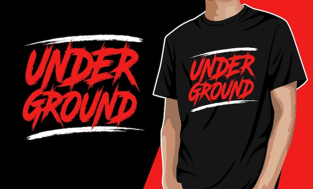 Underground Projekt Koszulki Premium Wektorów