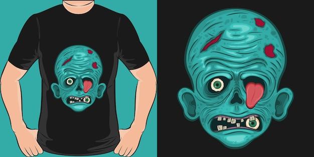 Unikalna I Modna Koszulka Z Przerażającymi Zombie Premium Wektorów