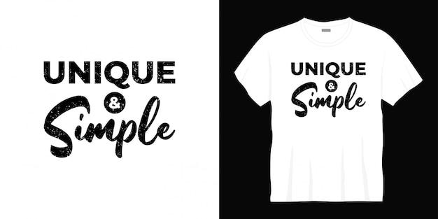 Unikalny I Prosty Projekt Koszulki Typograficznej Premium Wektorów
