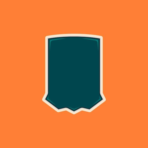 Unikalny Kształt Odznaki Puste Tarczy Premium Wektorów