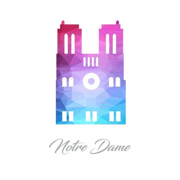 University of notre dame polygon logo Darmowych Wektorów