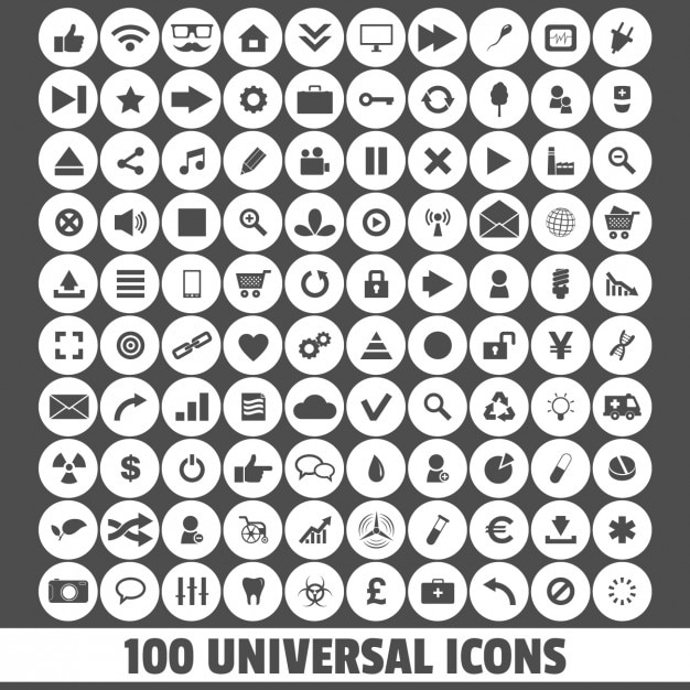 Uniwersalne ikony Darmowych Wektorów