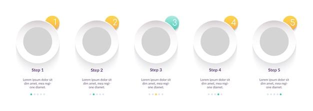 Uniwersalny Szablon Infografiki W Prostym, Kreatywnym Stylu Premium Wektorów