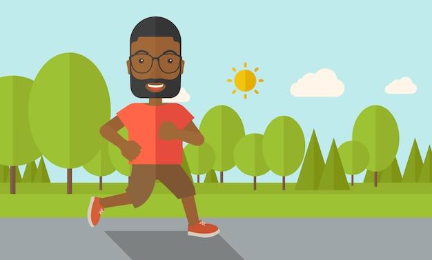 Uprawiający jogging. Premium Wektorów