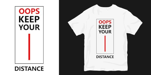Ups, Zachowaj Hasło Projektowe Koszulki Dystansowej Premium Wektorów