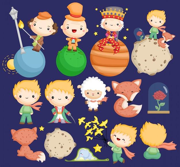 Urocza Opowieść O Małym Księciu Darmowych Wektorów