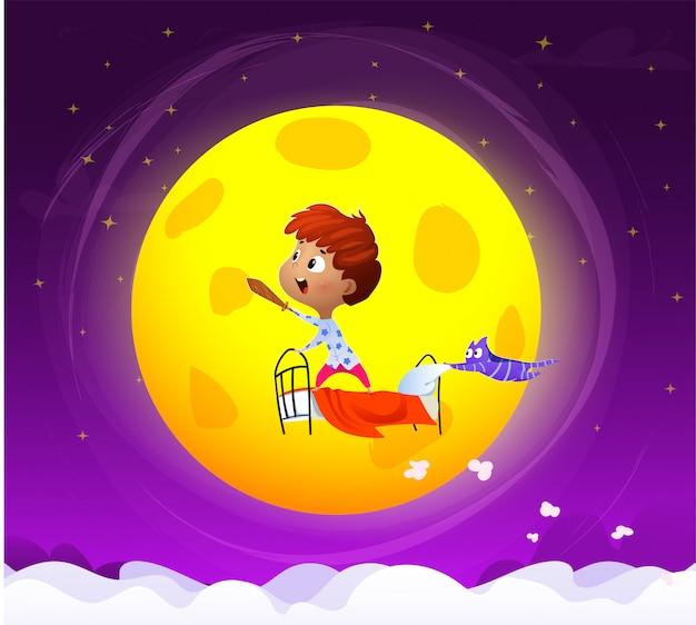 Urocza sypialna dziecko wektoru ilustracja Premium Wektorów
