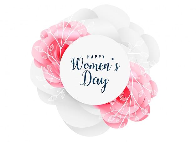 Uroczy szczęśliwy kobieta dnia kwiatu tło Darmowych Wektorów