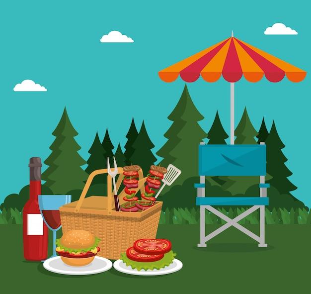 Uroczystość piknikowa Darmowych Wektorów