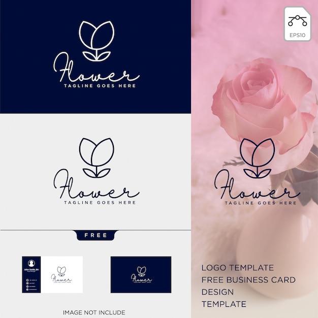 Uroda kosmetyk linia logo szablon wektor ilustracja ikona elementu Premium Wektorów