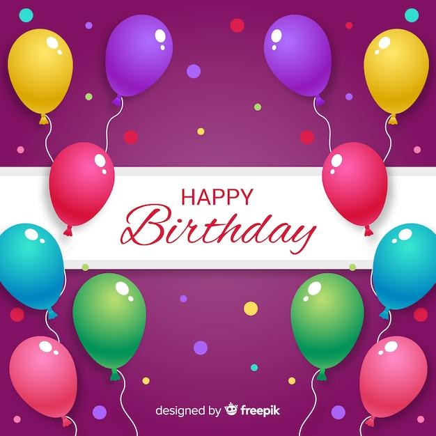 Urodziny Balon Tło Darmowych Wektorów