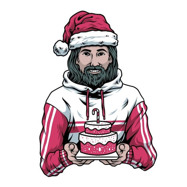 Urodziny Chłopca Jezusa Premium Wektorów