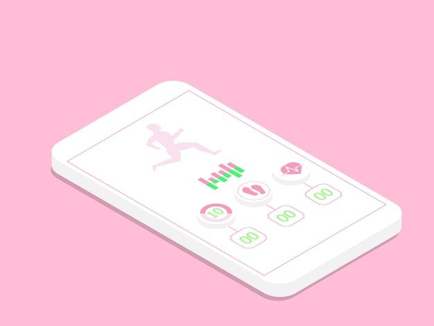 Uruchamianie Aplikacji Na Smartfonie Premium Wektorów