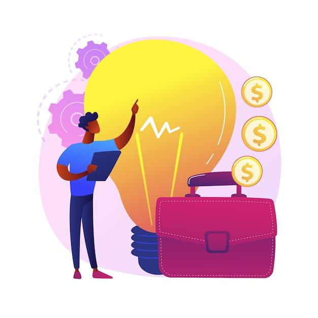 Uruchomienie Projektu Startowego. Innowacyjne Pomysły, Kreatywny Biznesmen, Dochodowa Firma. Najwyższy Menedżer, Odnoszący Sukcesy Przedsiębiorca Oferujący Biznesplan Darmowych Wektorów
