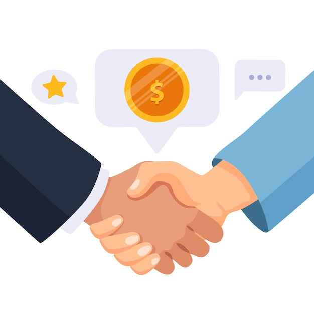Uścisk dłoni partnerów biznesowych. Premium Wektorów