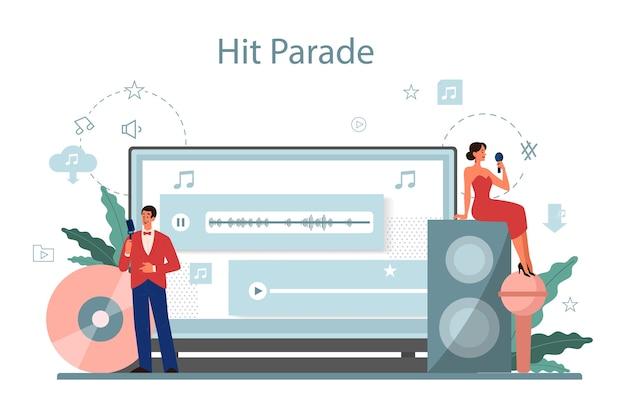 Usługa I Platforma Strumieniowego Przesyłania Muzyki Premium Wektorów