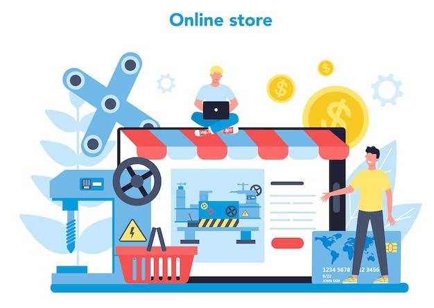 Usługa Lub Platforma Internetowa Tokarki Lub Tokarki Premium Wektorów